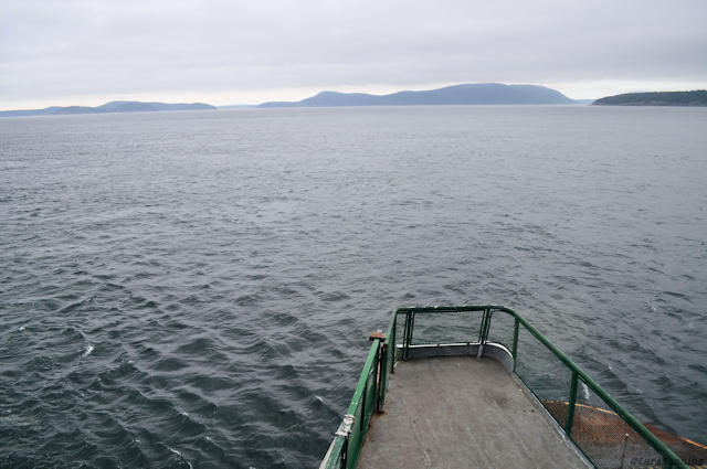 The ferry on its way to Orcas Isalnd.
