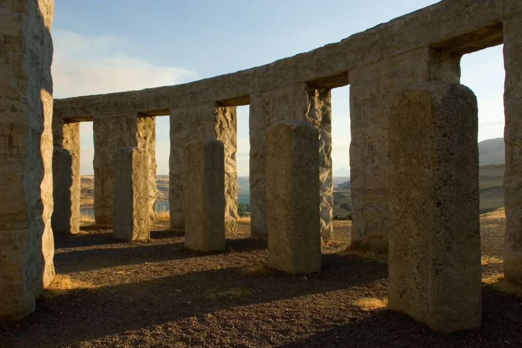 Interior of Maryhill Stonehenge, one of the best places to visit in maryhill washington