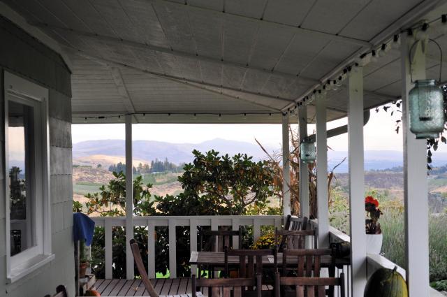 Porch at at Wilridge Winery.