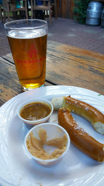 Old Schoolhouse Brewery Pretzel with Beer Cheese
