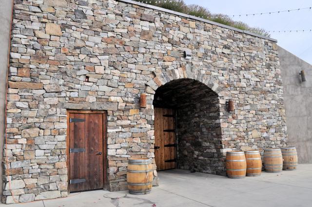Wine Cave at Gilbert Cellars.