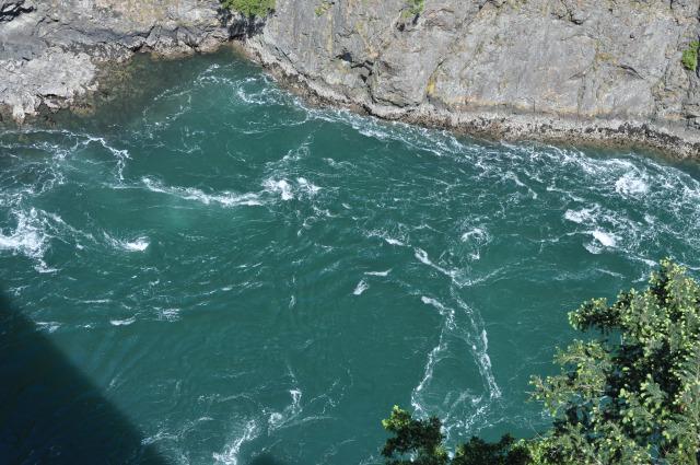 The rapids of Deception Pass.