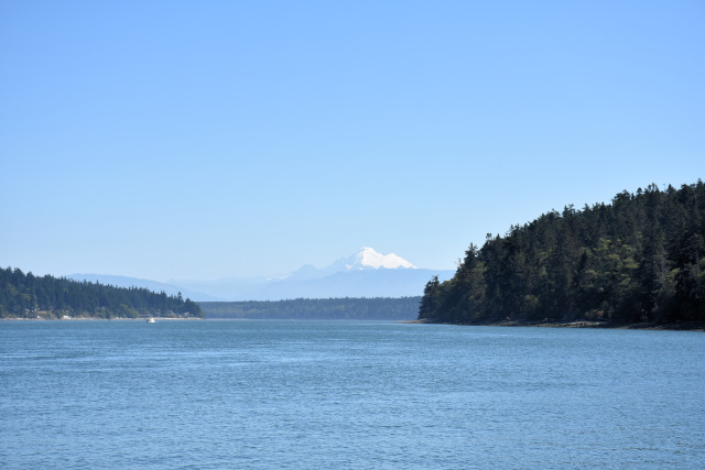View of Mt. Baker from Cornet Bay.