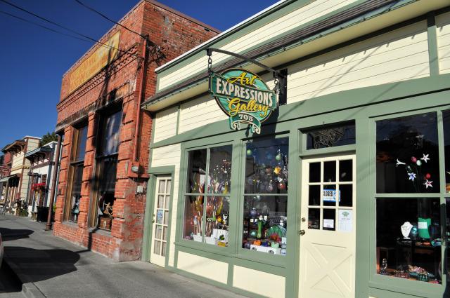 Shops in La Conner, Washington.