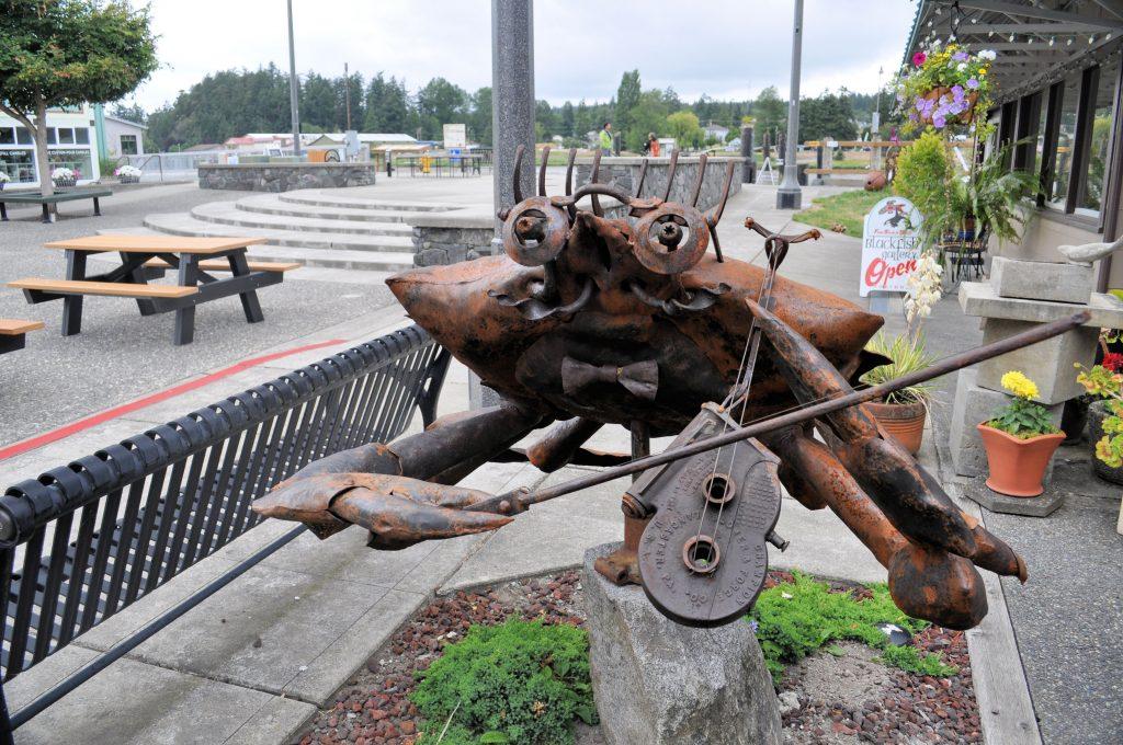 Crab sculpture in La Conner, Washington.