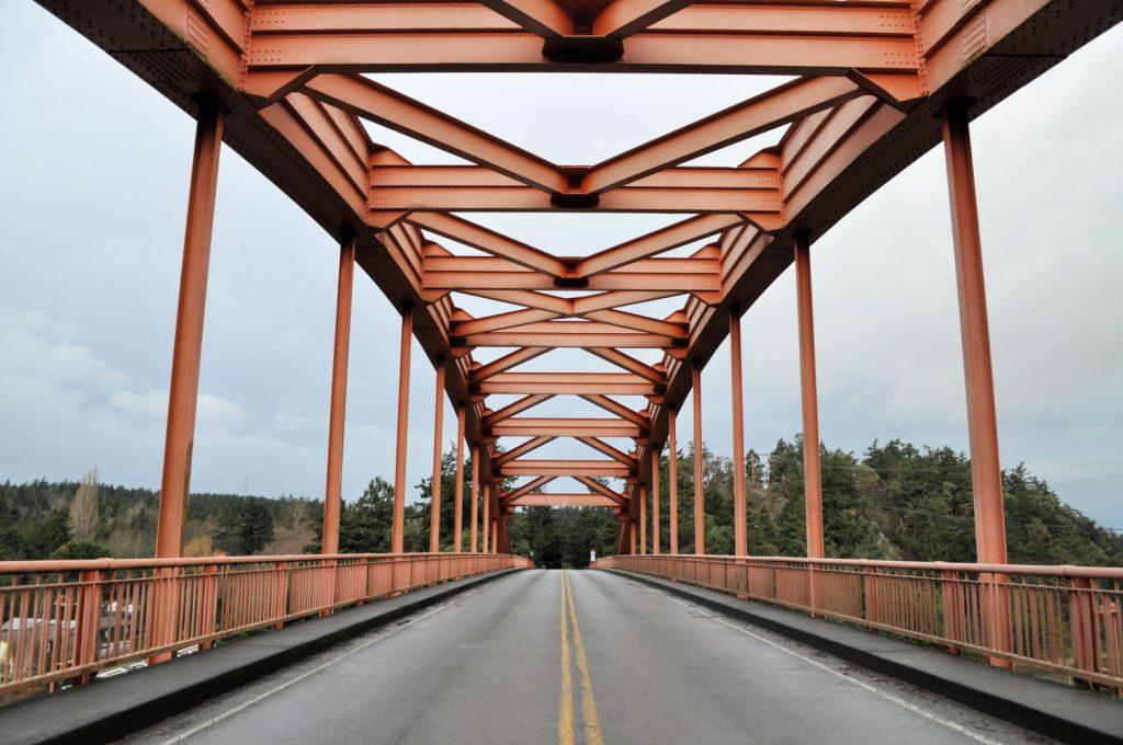 La Conner Rainbow Bridge.
