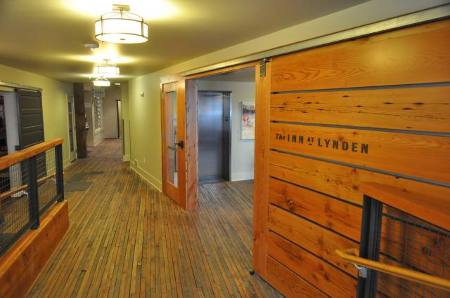 Unusual entryway at the Inn at Lynden.