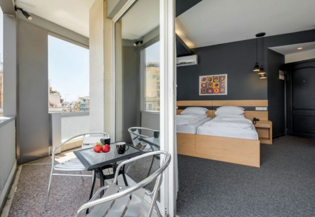 Balcony room at the Park Hotel.