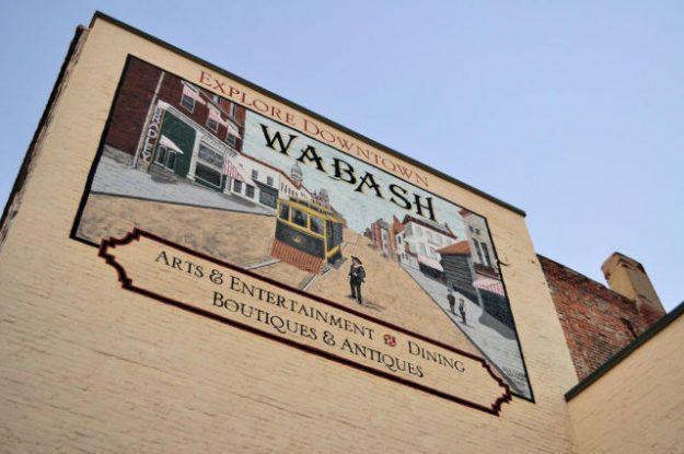 Mural in Wabash, IN.