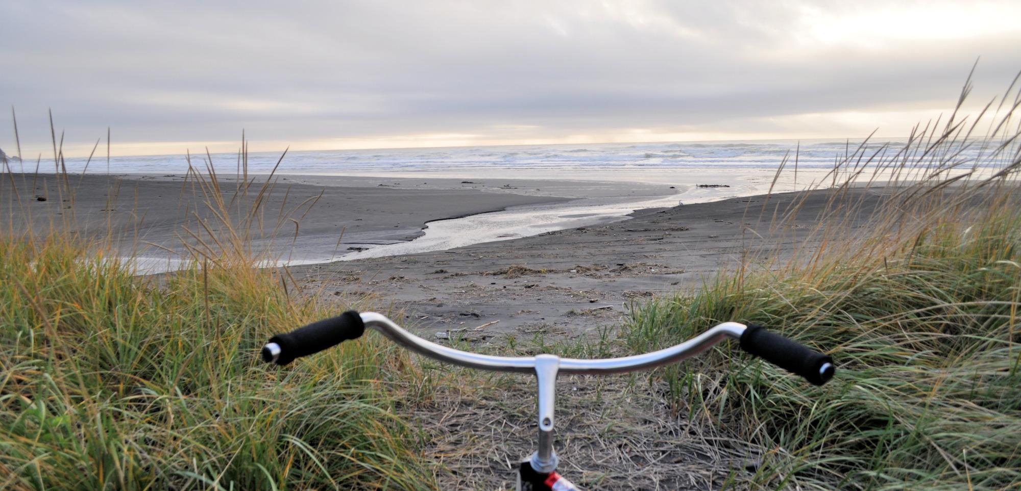 Bike ride in Long Beach, Washington.