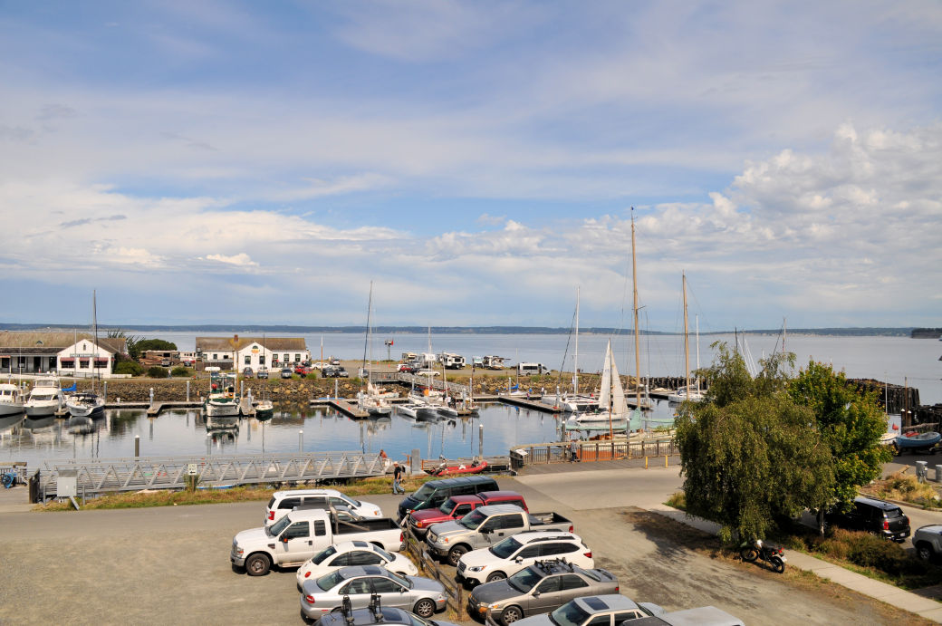 View of the marina from The Swan Hotel.
