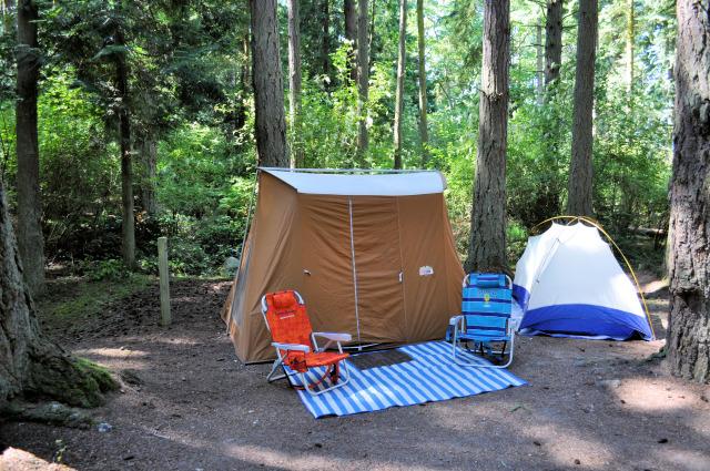 Camping at Washington Park in Anacortes.