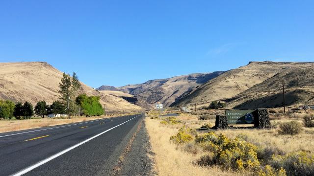 Yakima Canyon Scenic Byway in Washington State.