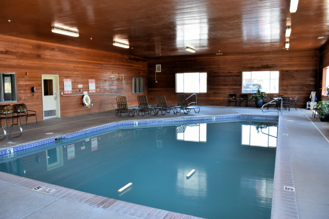 The indoor heated pool at the Best We