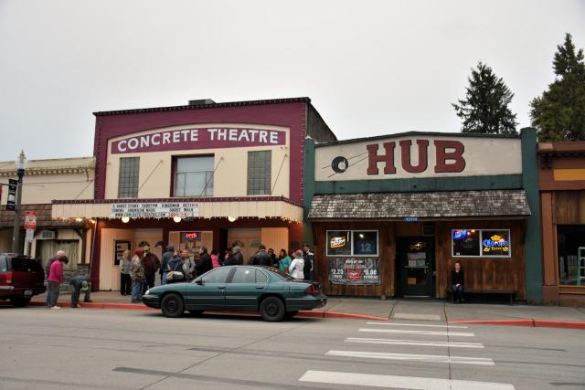 The haunted Concrete Theatre in Concrete, Washington.