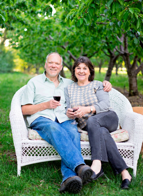 Ludger and Julie Szmania at Warm Springs Inn & Winery