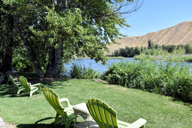 View of the river at Warm Springs Inn & Winery