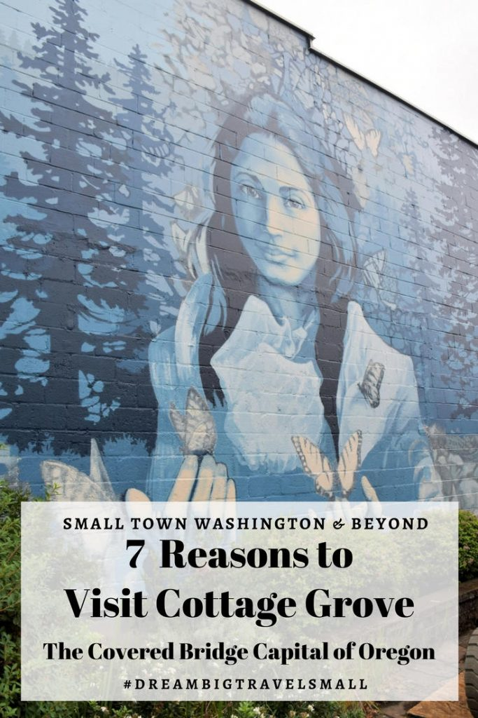 Opal Whitely mural in Cottage Grove, Oregon.