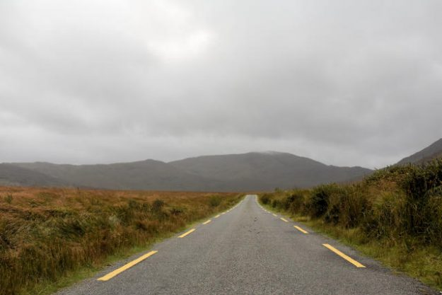 Ballaghisheen Pass in ireland.