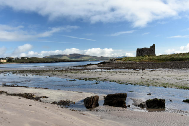 Ballinskelligs Castle in Ballinskelligs Ireland.