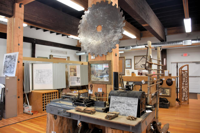 Artifacts at the Bohemia Gold Mining Museum.