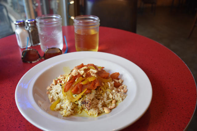 Moroccan fish and rice at Jack Sprat's.