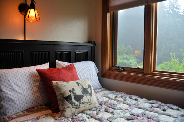 The bedroom at Lily of the Field in Cottage Grove, Oregon.