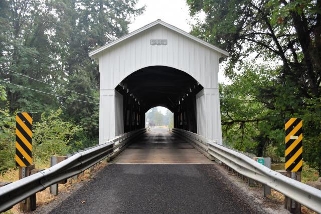 Mosbey Creek Bridge in Cottage Grove, Oregon.