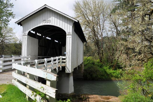 Stewart Bridge in Cottage Grove, Oregon.