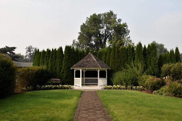The gazebo at the Village Green Resort.