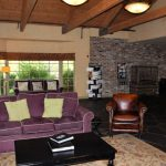 The lobby at the Village Green Resort.