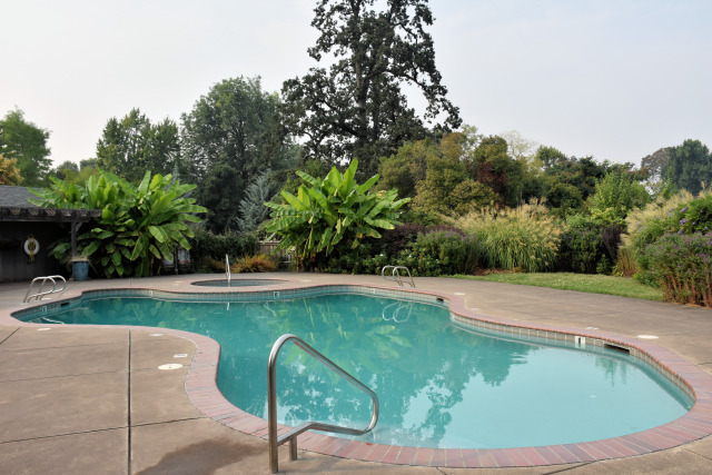 The pool at the Village Green Resort.