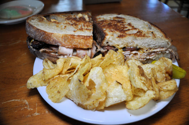 Grilled sandwich at Creswell Bakery in Creswell, Oregon.