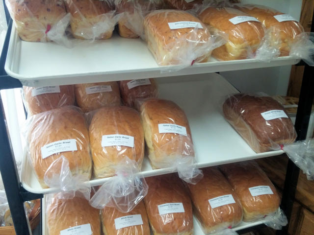 Baked bread at Country Bakery in Halsey, Oregon.