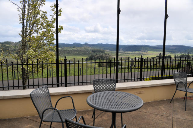 View from King Estate Winery in Oregon.