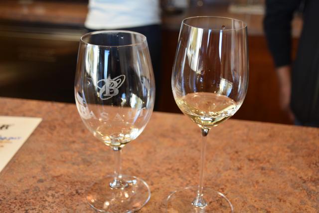 Tasting wines at Basalt Cellars.