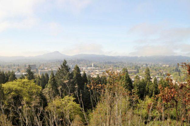 View of Spencer Butte in Eugene Oregon.