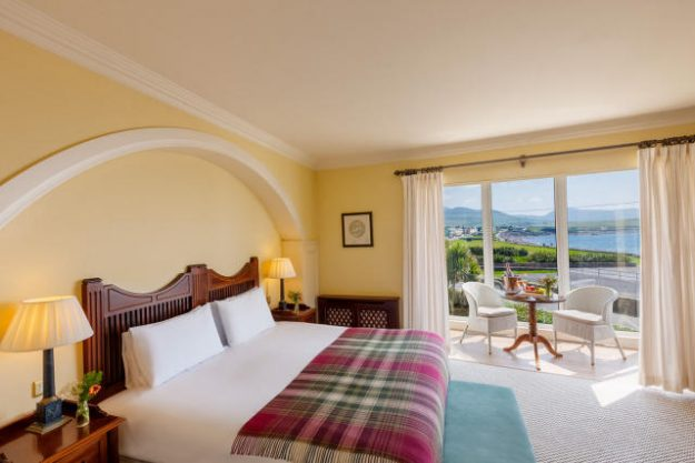 Atlantic view room at the Butler Arms Hotel in Waterville, Ireland.