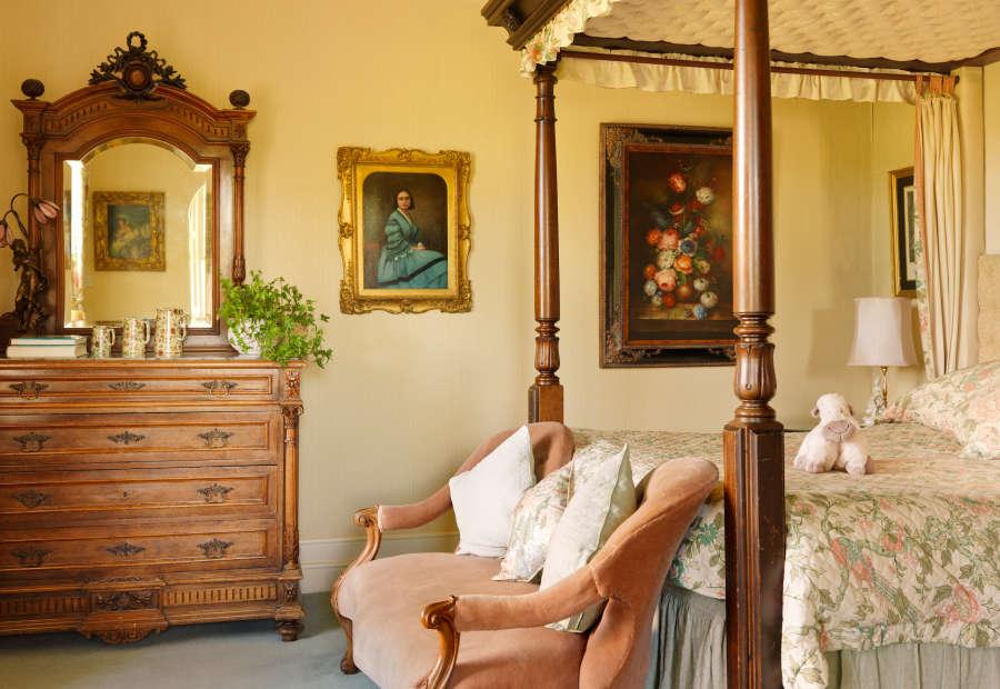 Bedroom at the Park Hotel Kenmare in Ireland.
