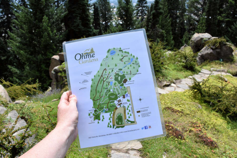 Tail map of Ohme Gardens.