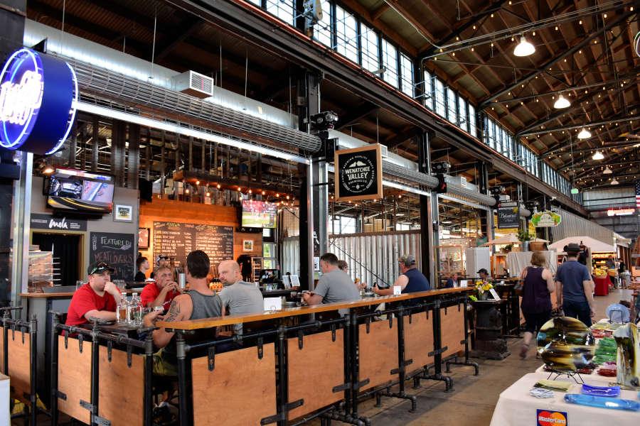 Brewery at Pybus Market in Wenatchee, Washington.