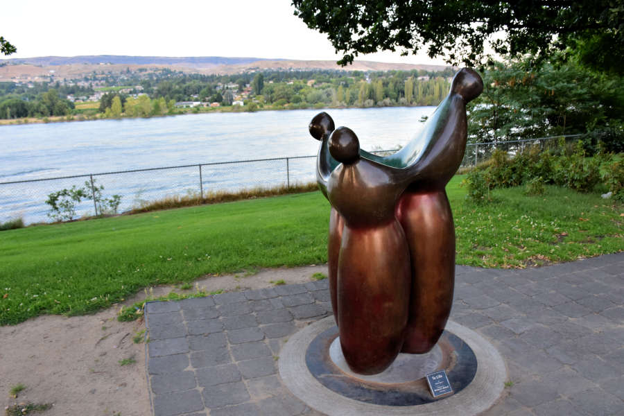 When you visit Wenatchee there are 90 art sculptures to see.
