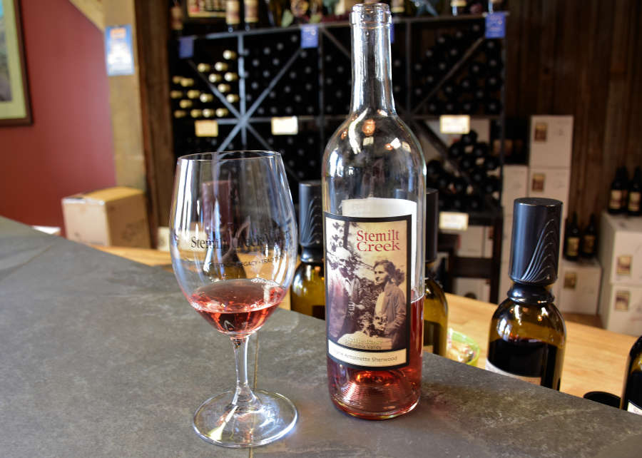 Wine from Stemilt Creek in Wenatchee, Washington.