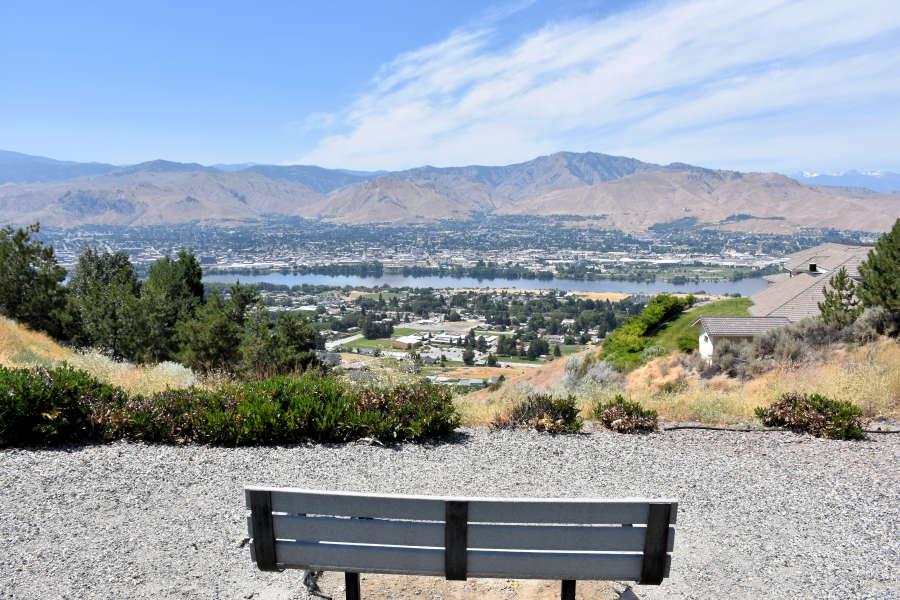 View of Wenatchee, Washington.