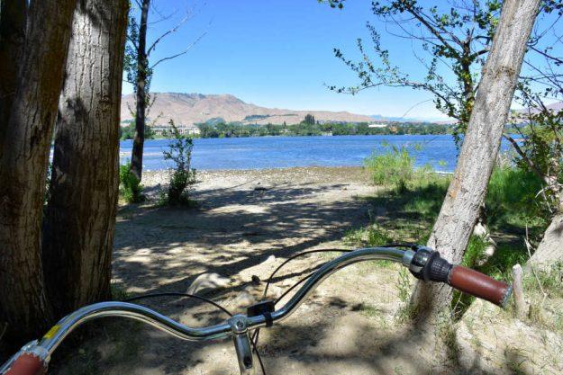 Biking the Apple Capital Loop Trail in Wenatchee, Washington.