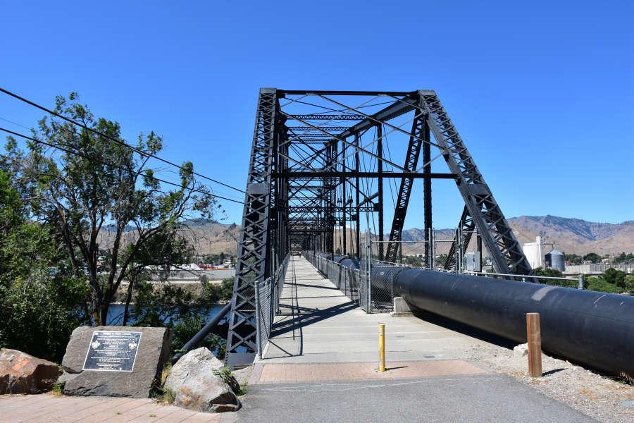 Bridge along the Apple Capital Loop Trail in Wenatchee, Washington.