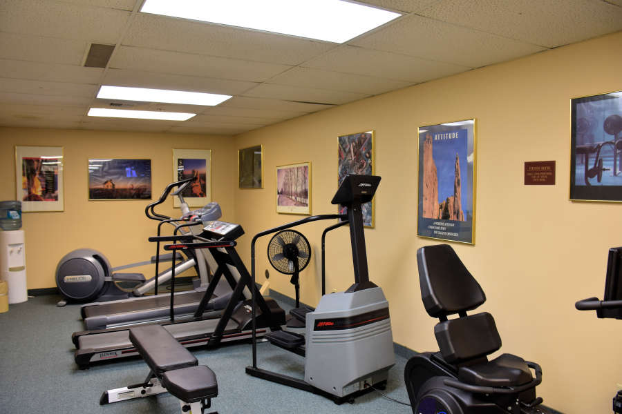 The exercise room at the Coast Wenatchee Center Hotel.