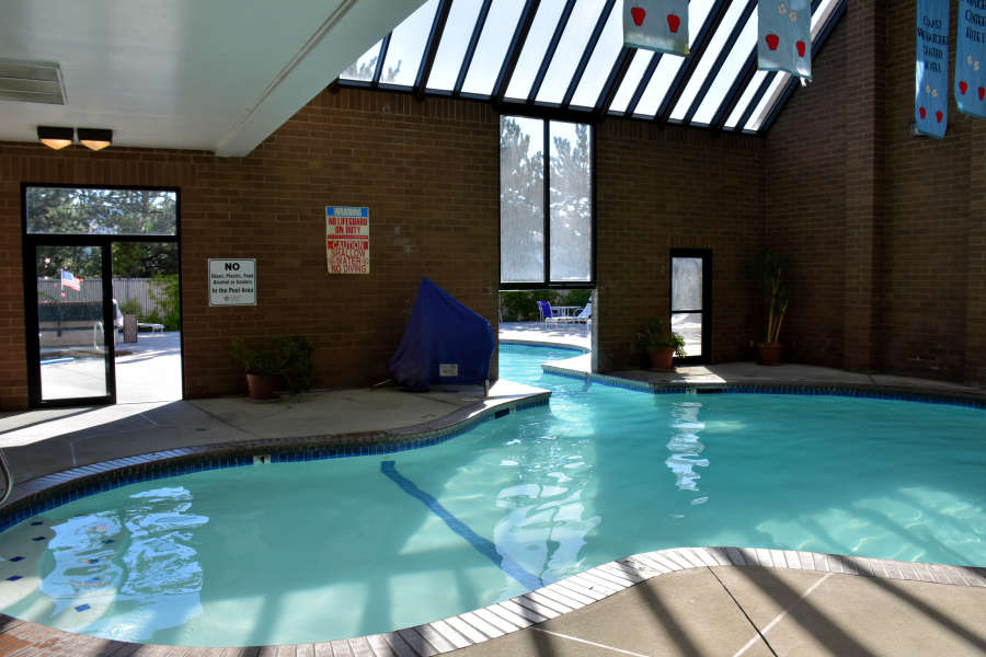 The pool at the Wenatchee Coast Center Hotel.