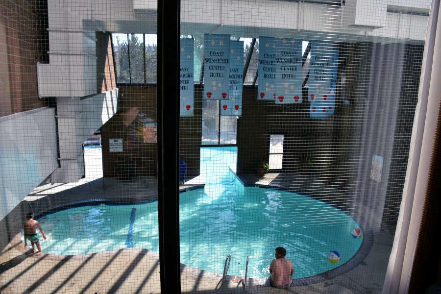 Pool at the Wenatchee Coast Center Hotel.