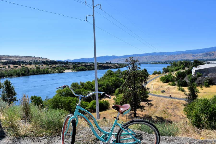 When you visit Wenatchee, Washington you can bike trails.